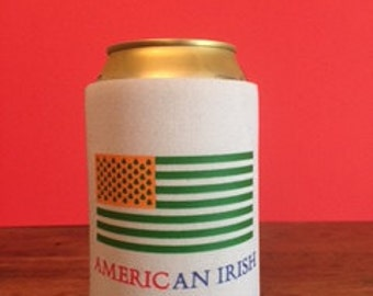 American Irish Can Coozie