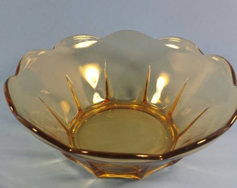 "Amber servind bowl 8"" wide 3"" tall"
