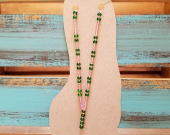 Green and Pink barefoot sandal