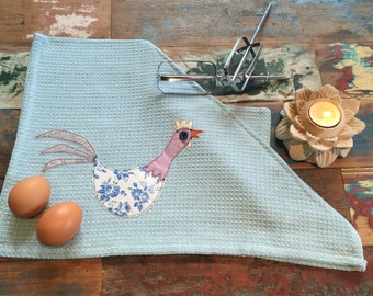 Rooster Tea Towel 100% Cotton