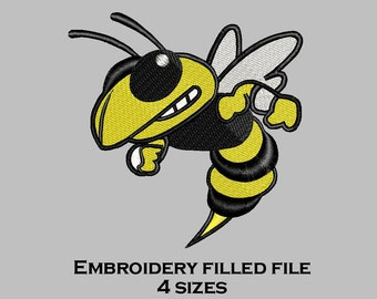 Embroidery Design Insect yellow Jacket