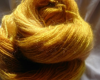 hand dyed mohair, 4 ply, 100g 335m ' lacey '