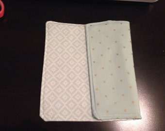 Mint Green Burp Cloth