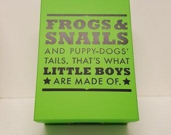 memory box-picture box-quote box-keepsake box-boy
