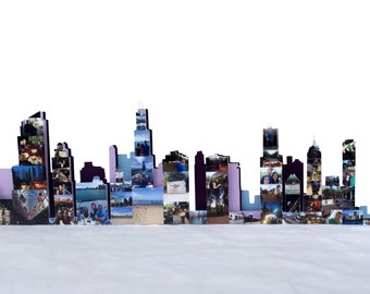 Chicago Skyline Photo Collage 3D