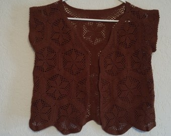 Short handmade vest