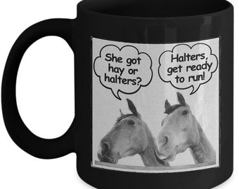 Funny Horse Coffee Mug - Horse Lovers Gift For Women And Girls - Horse Stuff For Horse Lovers