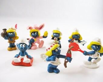 Vintage Smurfs, Lot of &, 1975-1983 Schleich