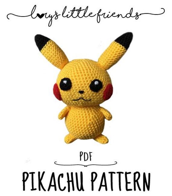 Crochet Pattern Pikachu Pokemon amigurumi pdf