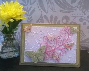 Homemade Card- Butterflies