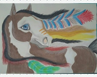 The War Horse (pastel drawing)
