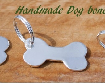 Sterling silver dog id tag