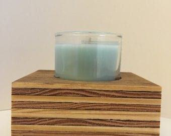 Rustic Wood Candle Base