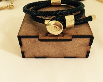 Bracelet of skin braided adjustable