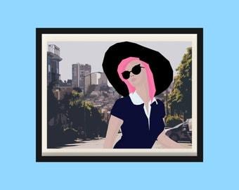 Candy Vintage / In L.A / Digital Download / Printable