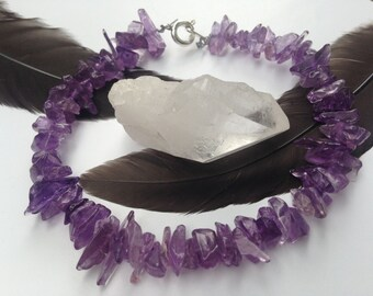 Amethyst Genuine Gemstone Bracelet