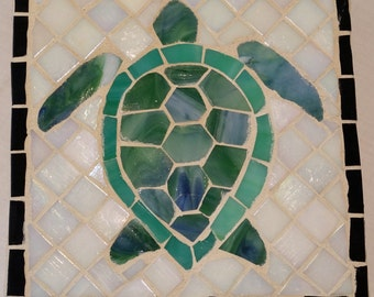 Mosaic Turtle Wall Art