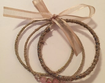 Natural Hemp Bangle Set