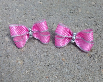 Pink and silver princess pigtails.
