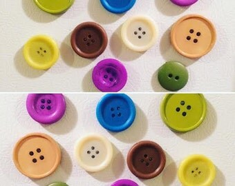 Classic Button Magnets (Set of 8)