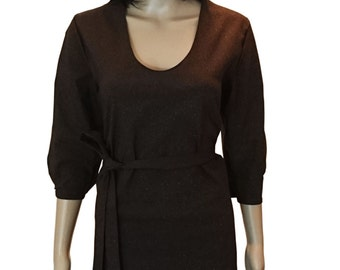 dress dark brown shine