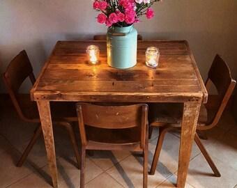 Wooden pallet kitchen table mid century modern retro vintage style