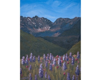 "Vail Art Print ~ Vail Gore Range Print ~ Colorado Landscape ~ ""Gore Range Glory"" ~ Vail Colorado Painting Reproduction"