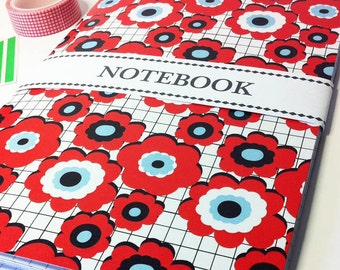 Floral Poppy notebook