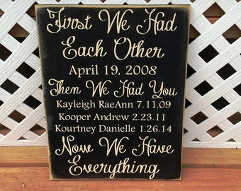 First We Had Eachother sign, custom 10x13