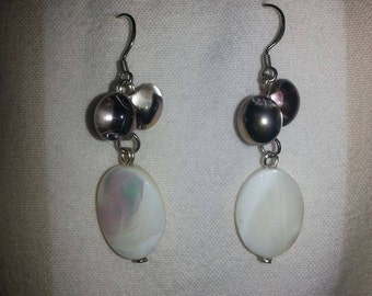 Mother of Pearl and Smoky Bead