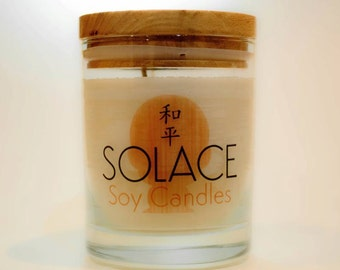 Vanilla Caramel - Hand Made Soy Scented Candle - 350ml glass jar with wooden lid