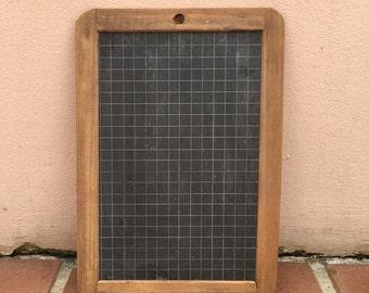 Vintage Childs blackboard,slate chalk board,old school house, french wood 6