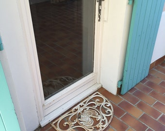 Vintage french door metal Exterior Carpet