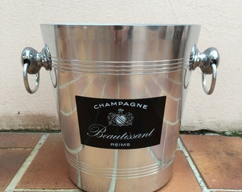 Vintage French Champagne French Ice Bucket Cooler Made in France BEAUTISSANT