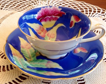 Hand Painted Trimont teacup and saucer