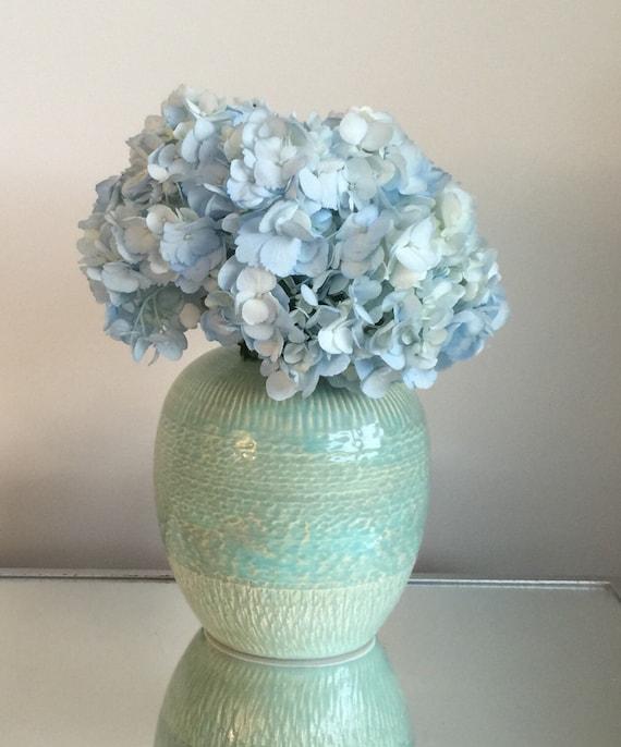 Handmade ceramic flower vase sea green by samanthaboothart for Handmade flower vase with waste material