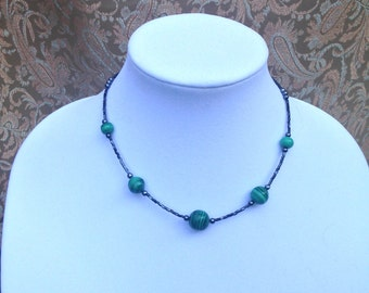Genuine Malachite Necklace