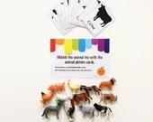 Farm Animal Busy Bag - Animal Matching Game - Toddler Gift - Preschool Activities - Orange Activity Kit - Activity Bag - Toddler Travel
