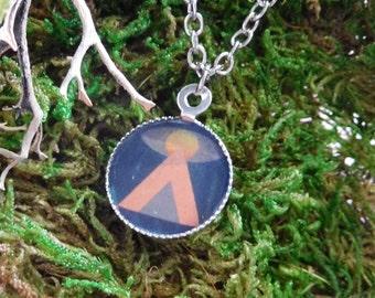 UFO Tycho Modern Art Shapes Geometric Small Pendant Necklace