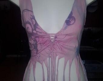 Cut and Weaved Tye Dye Hippie Faerie Tank Top