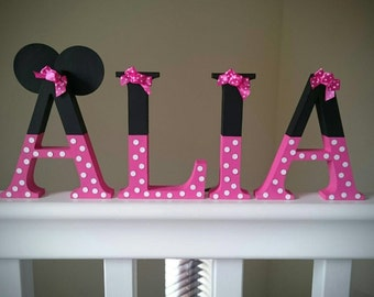 Minnie Mouse Disney Wooden Name Letters
