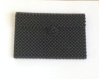 black beaded money purse