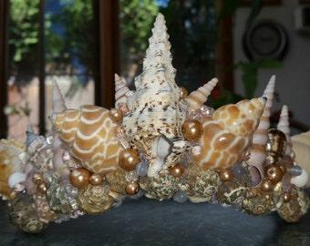 Regal Seashell Handmade One of a Kind Mermaid Crown