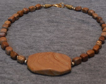 Tigerskin Jasper Stone Necklace