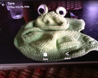 Frog beanie and lily pad