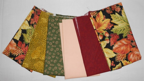 Fall/Autumn Fabrics Fat Quarter Bundle 6pc. Fall