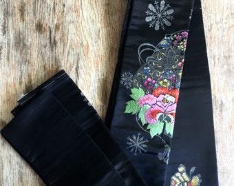 Vintage Japanese Kimono Silk Obi Belt