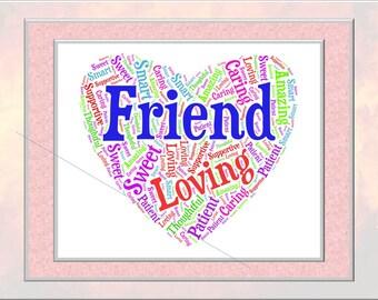 Friend Word Art