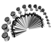 Stainless Steel Stretching Kit 14g - 00g, Steel Plugs, Taper Set, 00g, 2g Tunnels, Stainless Steel Gauges, 10g Plugs, 8g Plugs, 6g Plugs