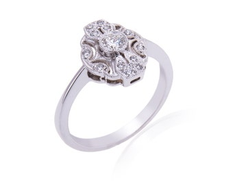 R009. Edwardian Style Diamond Ring.